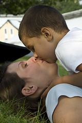 mother and son (joakimjacobsson) Tags: summer love grass kiss mother son