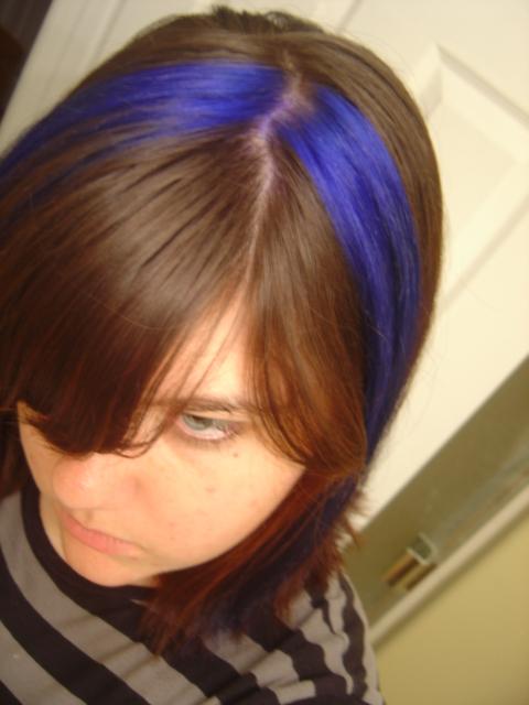 Woo hoo! Blue Hair!