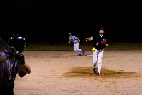 softball at night