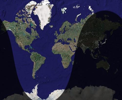 El mapa del Día y la Noche