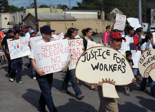 La Marcha II: Kaolin workers union mushr by quixoticlife, on Flickr