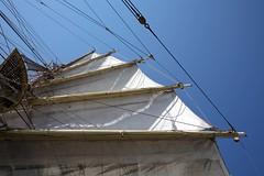 Screwing the Main Top (Bruno Girin) Tags: race screw sails baltic mast tallships srlandet tallshipsracesbaltic2007