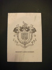 Borden bookplate