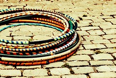 Hoopsie (Ani-Bee) Tags: park brick colors festival hulahoops multicolored hoops harvestingthearts
