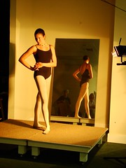Ballerina Reflecting II (mckenzieo) Tags: reflection mirror ballerina posing leotard figurepainting whitetights mckenzieoerting purplehairedchick mckenzieo standingdancer dualviews figuredrawingsession framingbydesign