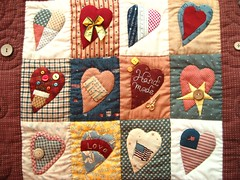 Country Love patchwork wall hanging (STORY QUILT) Tags: love handmade country quilting patchwork zakka wallhanging countrystyle