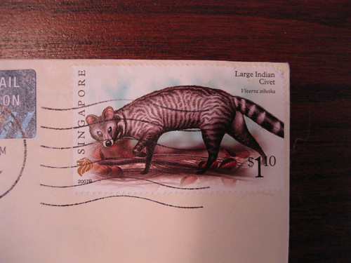 Civet stamp from Singapore