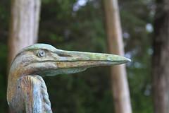 Heron Statue (mrbrkly) Tags: museum virginia norfolk foundation hermitage
