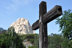 Pea de Bernal (OtroPX) Tags: mexico hotel nikon cross medieval sierra queretaro gorda monolith bernal pea hostal d90