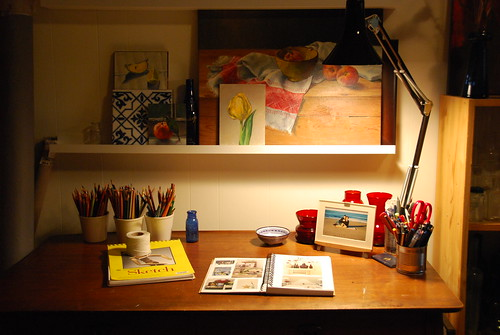 studio desk - early morning