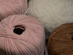 Yarn for suede baby hat and bootees