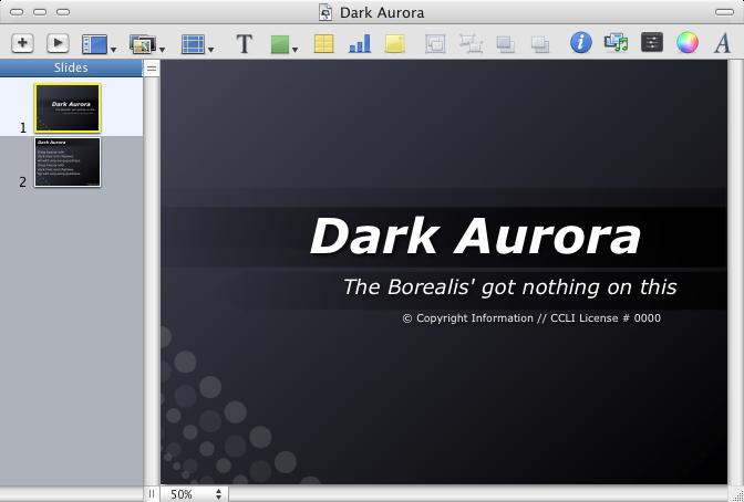 Dark Aurora Theme