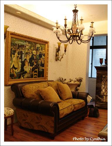大峰家具-沙發7與吊燈