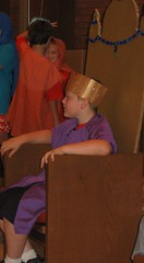 Nevin was King Herod in a local Lutheran VBS play