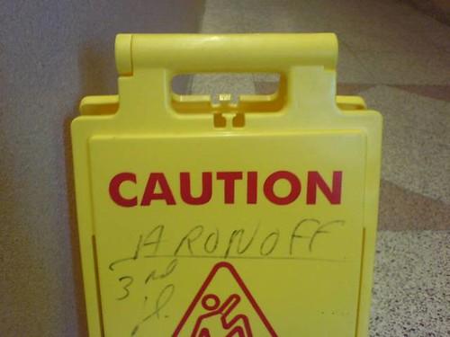 Caution: Aronoff