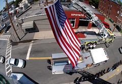Fire Chief's Funeral. Middletown, NY.  Aug. 2007.