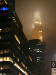 Chrysler building in the haze
