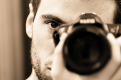 The camera eye (sausyn) Tags: camera portrait selfportrait eye sepia