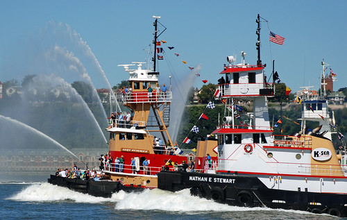 Tug Boats with nautical flags