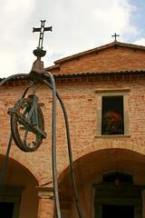 sant'ubaldo (oljmpya) Tags: italy church window cross basilica medieval chiesa finestra medievale umbria croci santuario gubbio carrucola santubaldo italiamedievale oljmpya anticando