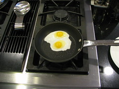 fresh eggs frying
