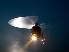 Wheel of steel (Alex Bamford) Tags: night chopper smoke helicopter searchlight floodlight abigfave alexbamford thebigbambooly theperfectphotographer wwwalexbamfordcom