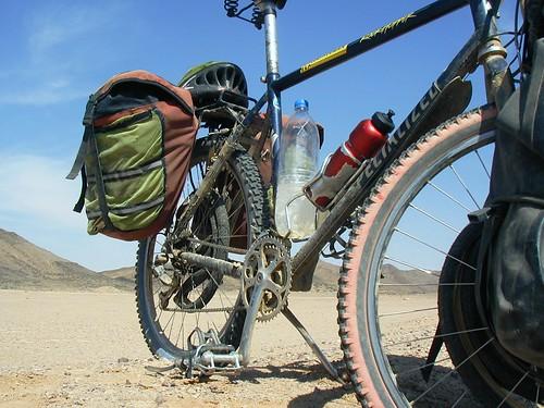 My bike in  the desert in Sudan