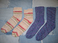 First Socks Crocheted