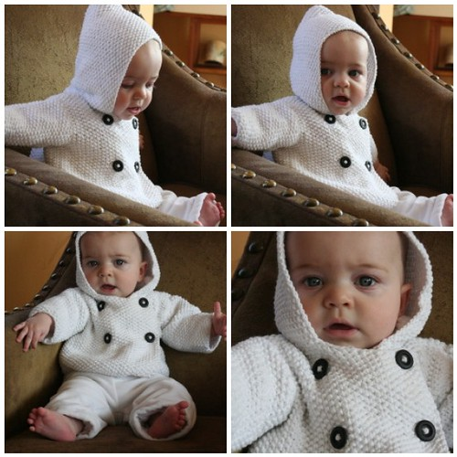 Seed Stitch Baby Jacket Elinor Brown Knits