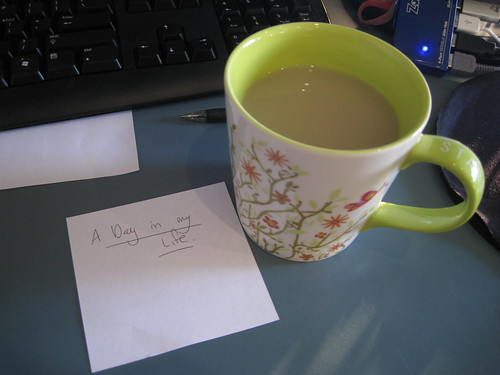 Tea and note to myself
