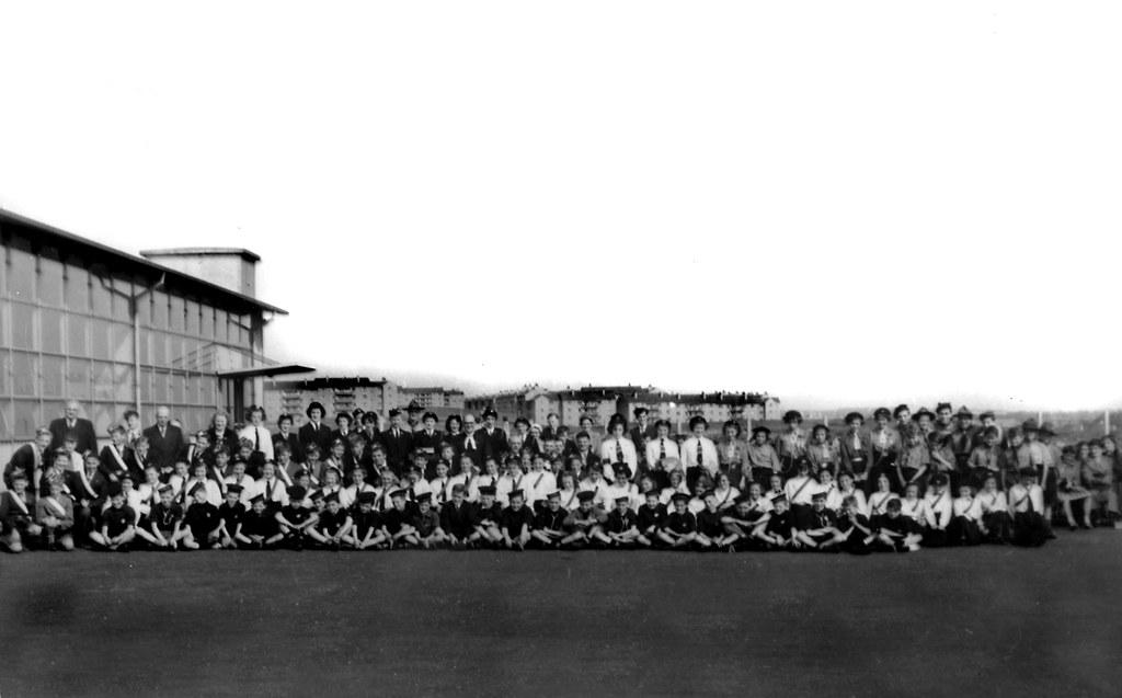 Youth organisations church parade 1954