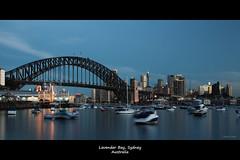 Sydney at dusk viewed from Lavender Bay (Harlz_) Tags: city longexposure sunset skyline canon cityscape dusk sydney australia nsw cbd sydneyharbour lavenderbay 24105mm 5dmarkii