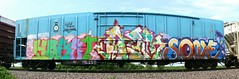 Habet/Atem/Sone (quiet-silence) Tags: railroad art train graffiti sone railcar graff freight inc ctw dnb reefer kookoo atem fr8 endtoend e2e habet railheads coldtrain nrdx nrdx95108