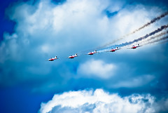 Canadian Snowbirds (Forest Wang) Tags: sky ontario canada june expo aviation kitchener 200iso airshow waterloo planes snowbirds 2010 f63 breslau kitchenerwaterloo 210mm canadiansnowbirds 424pm june2010 sonydslra230 12000secatf63 mygearandmepremium fathersday2010