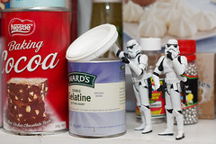 Be very quiet... (-spam-) Tags: food cooking kitchen canon toy starwars plastic ingredients stormtrooper pantry 365 figurine cocoa cupboard spacetrooper 40d lifeonthedeathstar
