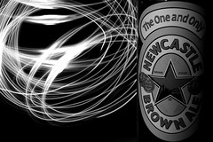 The One and Only (©skarson) Tags: light england bw brown beer newcastle cool drink ale øl newcastlebrownale canoneos5dmarkii