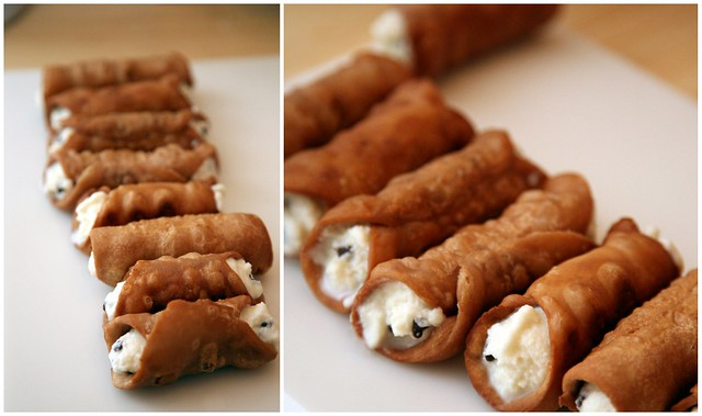 homemade cannolis