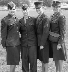B&W of Women in the Armed Forces (Domesticated Diva) Tags: bw women tn worldwari uniforms oakridge armedforces blackandwhitephoto secretcityfestival