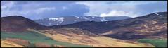 Far High Mountains (spodzone) Tags: panorama mountains colour film landscape fuji perthshire velvia crop largeformat shenhao glenbrerachan