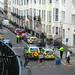 Waterloo street, cordoned off