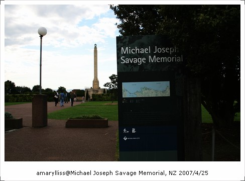 [NewZealand2007] 奧克蘭 Michael Joseph Savage Memorial Park @amarylliss。艾瑪[隨處走走]