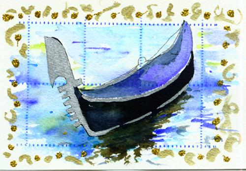 gondola postcard
