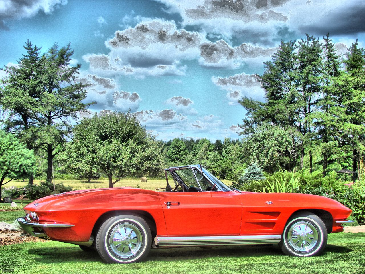 Kevin's 1964 Corvette roadster in HDR