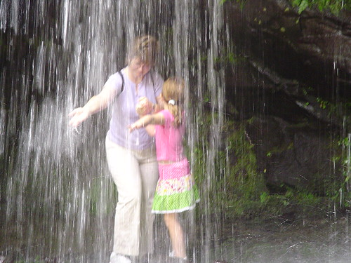 Cheryl and Holly at Grotto Falls in the Smoky Mountains