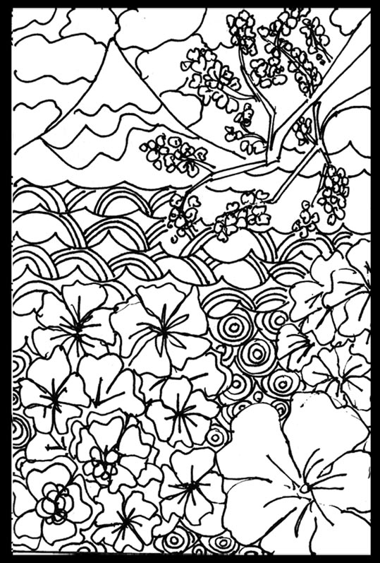 Free Coloring Pages View from Japan