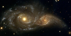 A Grazing Encounter Between Two Spiral Galaxies (NGC 2207 and IC2163) (zen724) Tags: sky night stars star google observatory galaxy nebula planet astronomy universe hubble nebulae