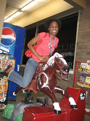 Joell having fun on Walmart's pony