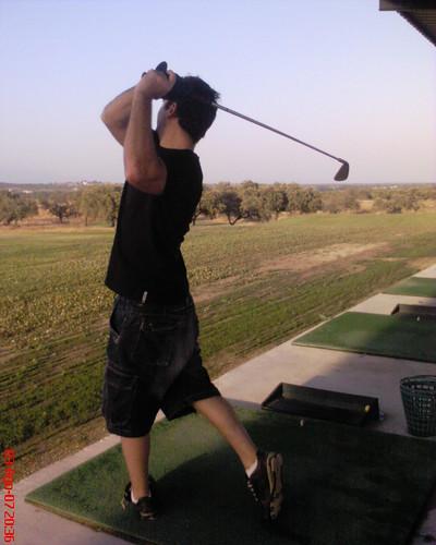 Jungado al golf en el campo de golf de Talayuela