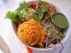 Salad from Aux Vivres (veganbackpacker) Tags: restaurant salad vegan raw montreal auxvivres
