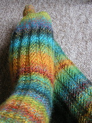 Broad Spiral Rib Socks